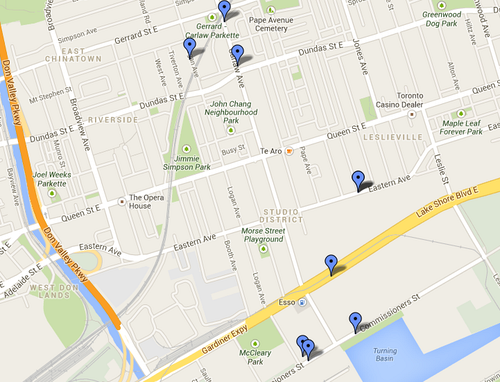 Electric substations in Toronto, South Riverdale