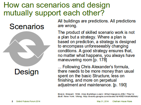 How Can Scenario and Design Mutually Support Each Other
