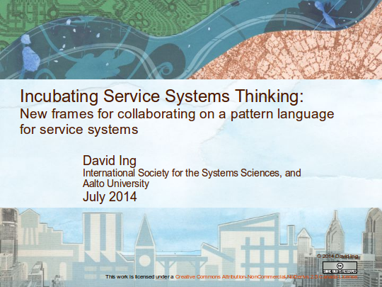 Incubating Service SystemsThinking