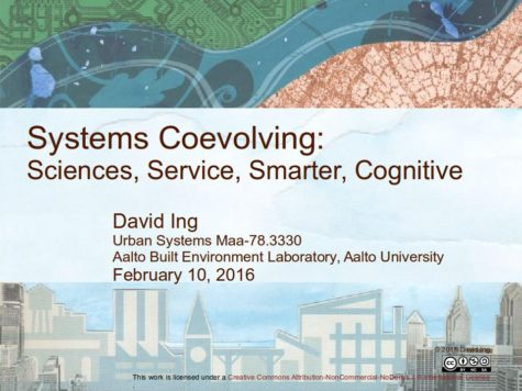 presentation slides for Systems Coevolving: Sciences, Service, Smarter, Cognitive
