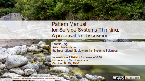 Pattern Manual for Service Systems cover