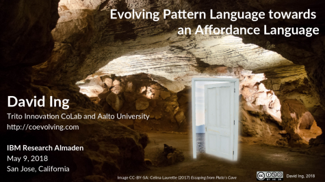 Evolving Pattern Language Towards an Affordance Language