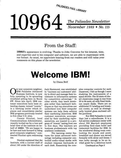 Welcome IBM!