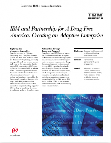 IBM and PDFA, Adaptive Enterprise