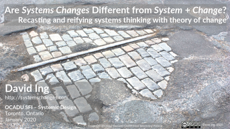 Are Systems Changes Different from System + Change? (cover)