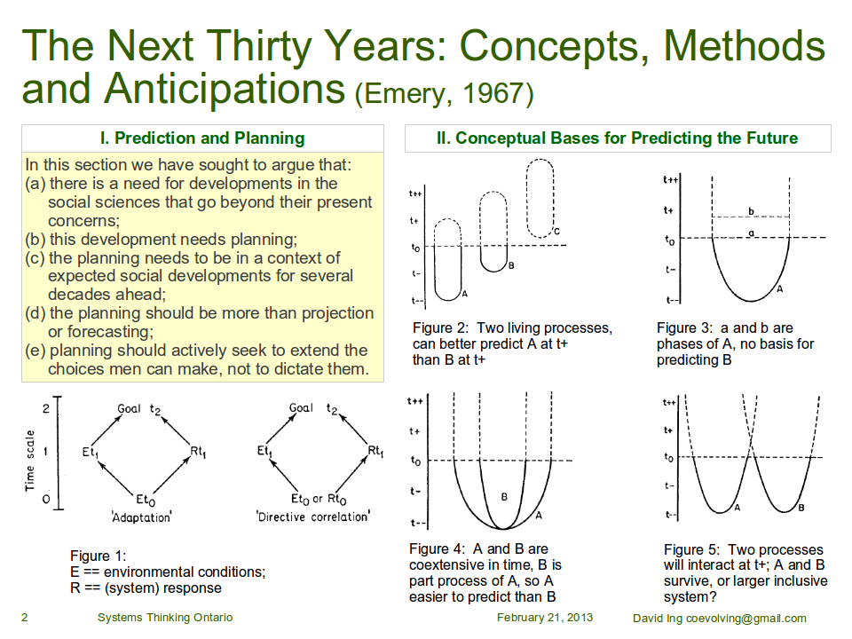 I. Prediction and Planning; II. Conceptual Bases for Predicting the Future
